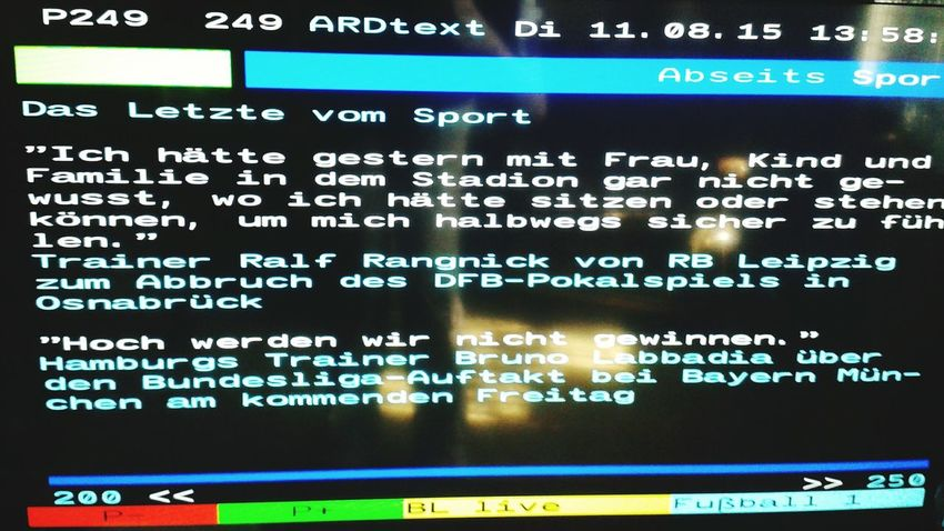 Das letzte vom Sport ARD Ralf Ragnick VfL Osnabrück RB Leipzig DFB-Pokal
