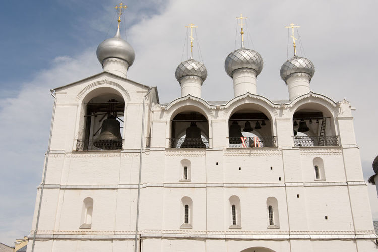 Architecture Bells Blue Built Structure Cloud Cloud - Sky Day Dome Façade High Section Historic Low Angle View No People Outdoors Russia Sky Travel Destinations