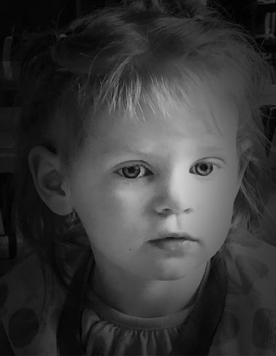 In her own world—continuation of two year old portraits Portraitist Eyeem 2018 Awards Blackandwhite EyeEm Portraits 2018 Portraiture Child Portrait Childhood Headshot One Person Front View Innocence Close-up