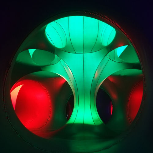 Circle Close-up Design Geometric Shape Glowing Green Color Indoors  Light Light - Natural Phenomenon No People Pattern Red Reflection Shape Studio Shot Technology