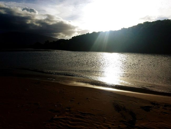 Water Beach Nature Sunset Sand Outdoors Tranquil Scene Beauty In Nature Tranquility Sky Sunbeam Scenics No People Day Wet Puerto Rico Samsung Galaxy S7 River Mouth