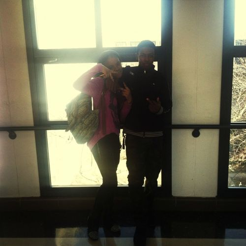 Me And My 5th Period Homie Kayla Before She Left