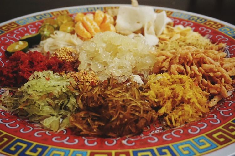 Homemade Yee Sang Chinesenewyear Yeesang Homemade Tasty Yummy Delicious Rice - Food Staple Indoors  Plate Food And Drink No People Food Ready-to-eat