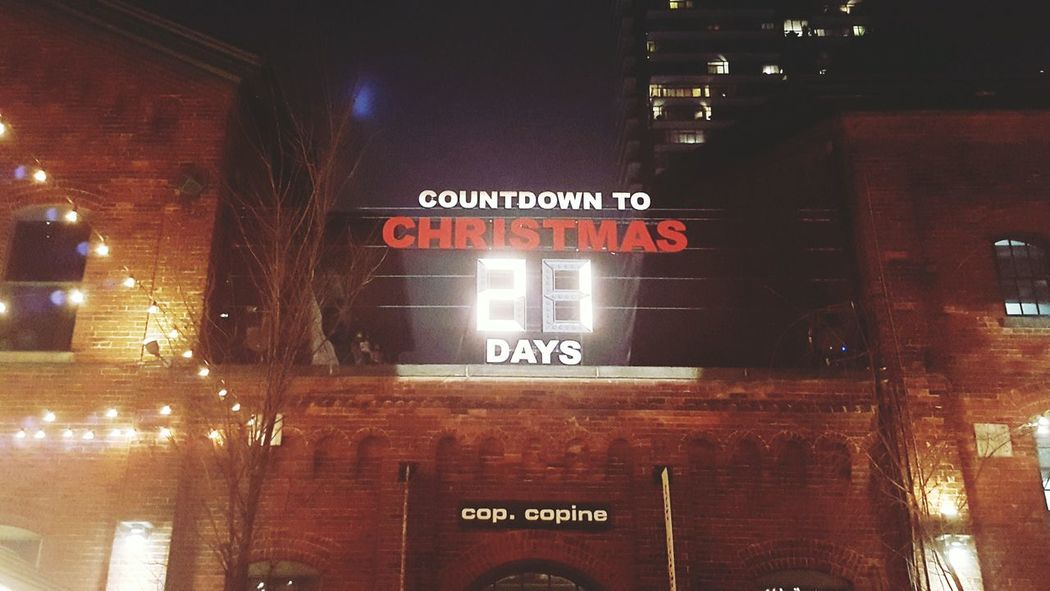CountdownToChristmas Christmas Market Night Lights City Toronto Text Communication Information Sign Indoors  No People