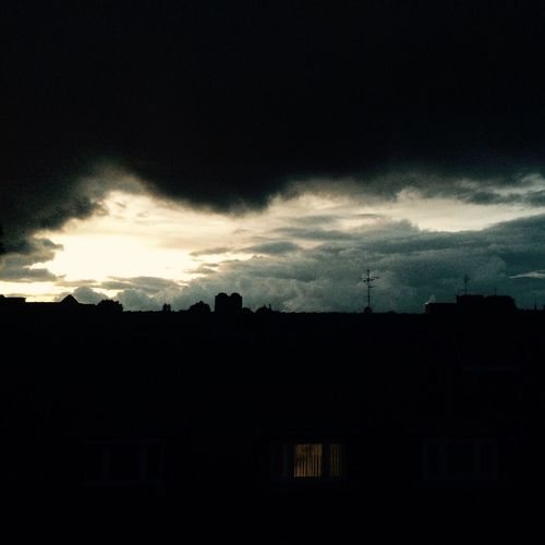 Sky Clouds Nightsky Rooftop Citylife Night