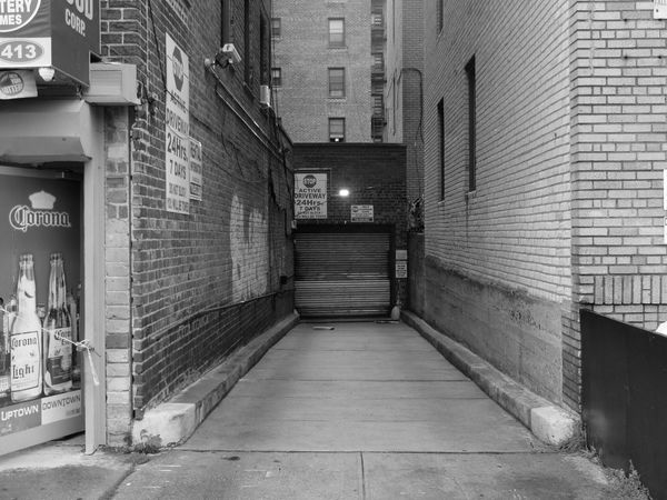 Narrowly ... Narrow Thewayforward The Way Forward Diminishing Perspective Brooklyn New York City Photos NYC Photography NYC Street Photography Nycphotographer Collection Blackandwhite Monochromatic Monoart