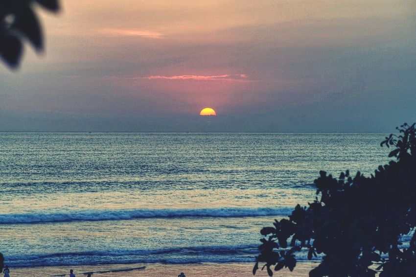 Sunset Bali lovely sunset here Holiday