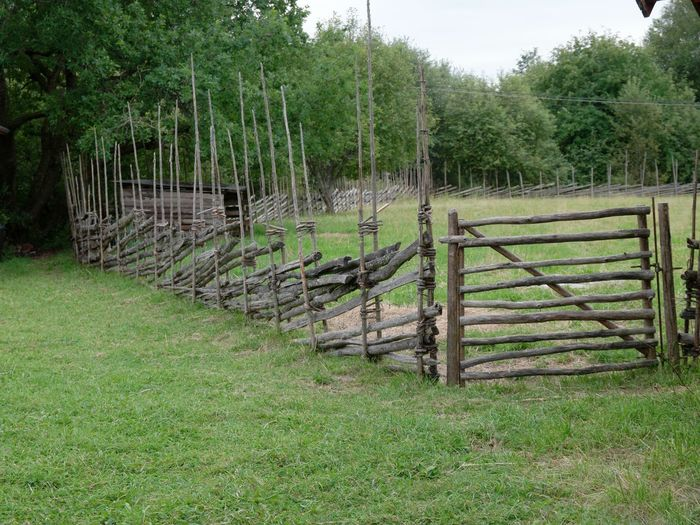 Day Grey Wooden Fence Landscape Nature No People Old Fences Outdoors Summer