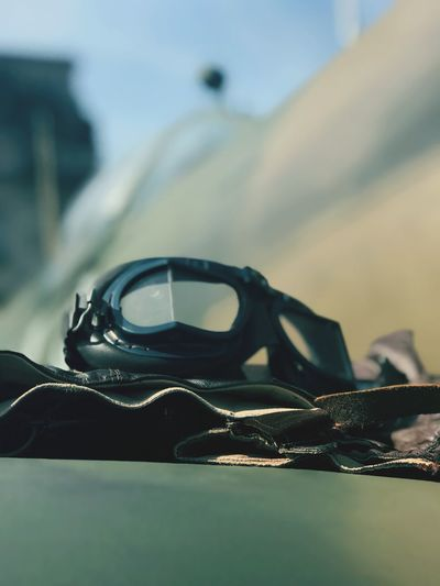 Pilot Goggles History Flight RAF 100 Goggles Focus On Foreground Close-up Still Life Personal Accessory No People Selective Focus Retro Styled