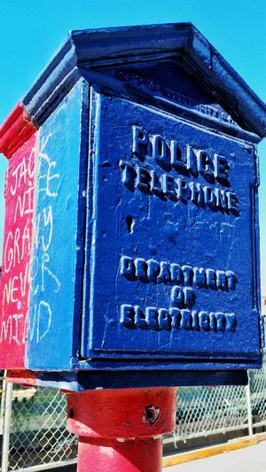 In Case Of Emergency Police Call Box San Francisco