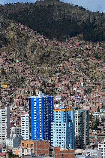 Urban landscape. La Paz. Bolivia Aerial View Altitude Andes Andes Mountains Architecture Bolivia Building Exterior Business Finance And Industry City Cityscape Eyeem Bolivia La Paz La Paz, Bolivia Modern Mountain Outdoors Skyscraper Travel Destinations Urban Urban Skyline