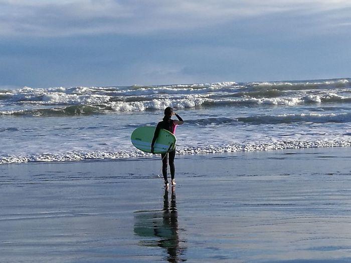 Surfing Water Sport Sea Wave Sky Nature Outdoors Te Henga New Zealand😍 BethellsBeach New Zealand Auckland New Zealand