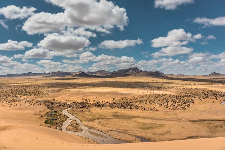 Mongolia Landscape Scenics - Nature Desert Cloud - Sky Sky Environment Tranquil Scene Land Beauty In Nature Tranquility Arid Climate Climate Sand Non-urban Scene Remote Day Nature Sand Dune No People Idyllic Outdoors Atmospheric