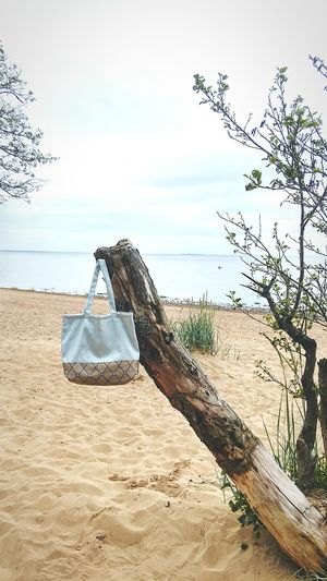 ecobag Beach Sea Outdoors Nature Water Sand Tranquility Sky Day Horizon Over Water No People Beauty In Nature Sand Dune