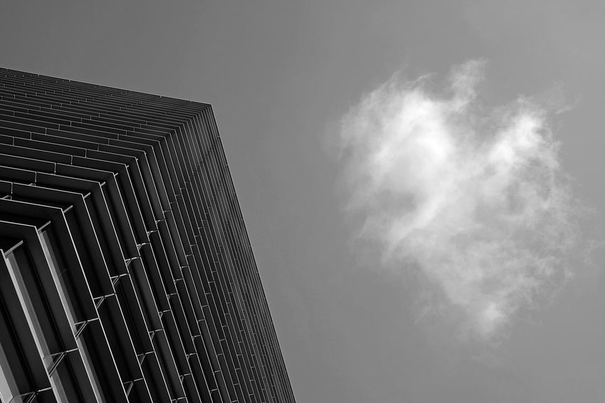 Architecture Architecture_collection Cloud Milan Milano Perspective Sky And Clouds The Graphic City Architectural Detail Architecture Architecturelovers Black And White Blackandwhite Building Exterior Built Structure City Day Low Angle View Modern No People Outdoors Sky Skyscraper