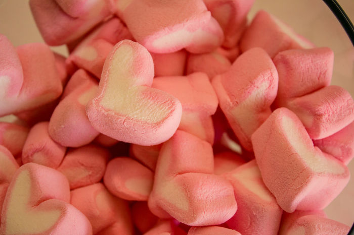 EyeAmNewHere Marshmallow Candy Fini Food Heart Shape Pink Color Sweet EyeEmNewHere