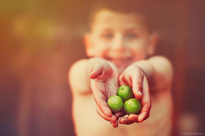 plums Portrait Bokeh Color Portrait Kid