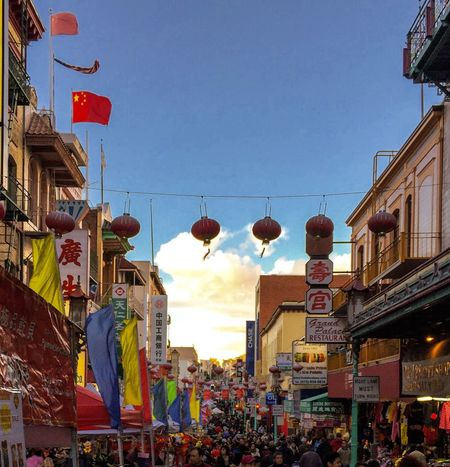 Festival Season Festival San Francisco Chinatown Red Lanterns Chinese Flag People Crowed Signs Posts Booth Tents Stores Shops Buildings Advertisement Shopping Colors Coloful California Colour Of Life What's On The Roll A Bird's Eye View Music Brings Us Together People And Places