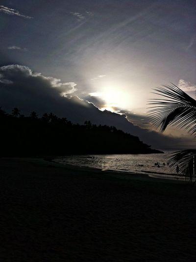 Playa Bonita, Las Terrenas. Sundown. Being A Beach Bum Getting A Tan Relaxing