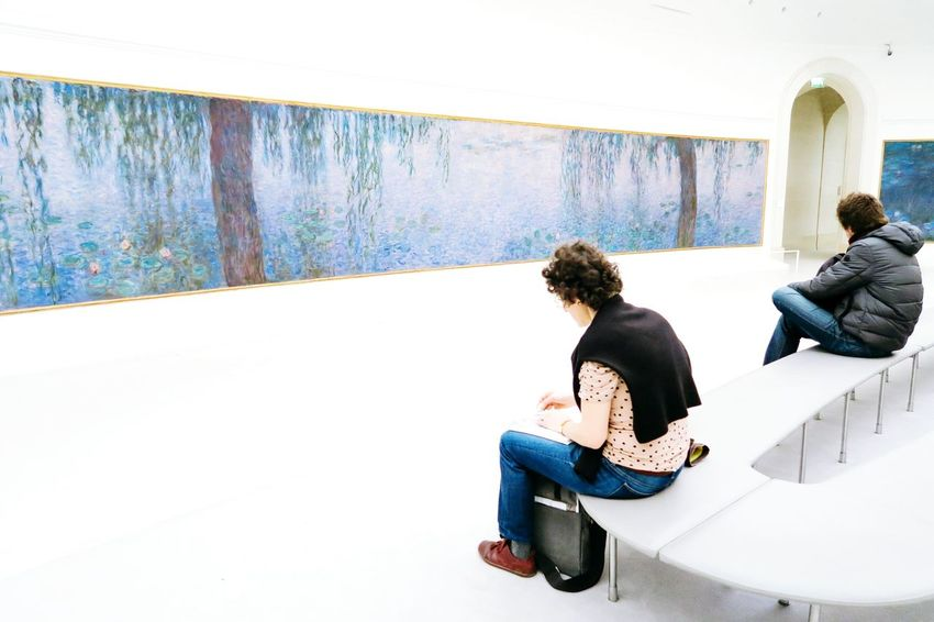 Sitting People Young Adult Full Length Only Men Day Adult Leisure Activity Adults Only Friendship Real People Indoors  One Man Only One Person Young Women Paris Paris, France  Paris, France  Parisienne Art Arts Culture And Entertainment Monet Monet Garden EyeEm Selects Painting