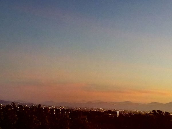 Taken 30 seconds ago Sunrise Pink Sky Sunset Mountain Illuminated