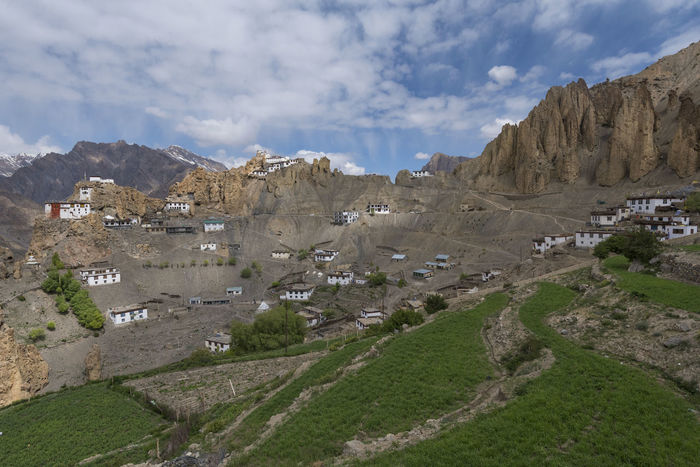 Dhankar Monastery Dhankar Dhankar Monastery India Monastery Travel Architecture Beauty In Nature Cloud - Sky Day Fields Himachal Landscape Mountain Mountain Range Nature No People Outdoors Physical Geography Scenics Sky Spiti Tranquil Scene Tranquility