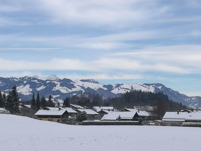 Kiefersfelden blick nach Österreich Shades Of Winter Snow Winter Cold Temperature Mountain Mountain Range