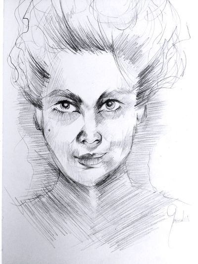 Violet Human Face One Woman Only One Person Only Women Portrait Human Body Part Adults Only Adult Headshot Looking At Camera People Close-up One Young Woman Only Young Adult Beautiful Woman Human Eye White Background Young Women Multiple Image Hello World Night Sketchbook Sketch