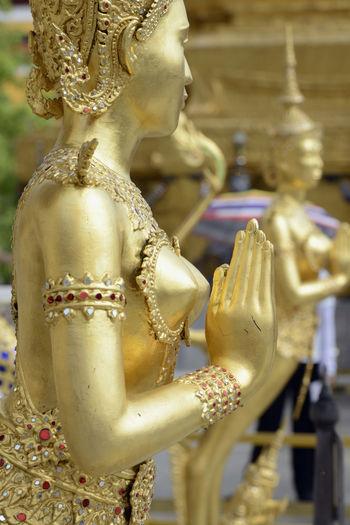 Statue of religious figure in asian culture