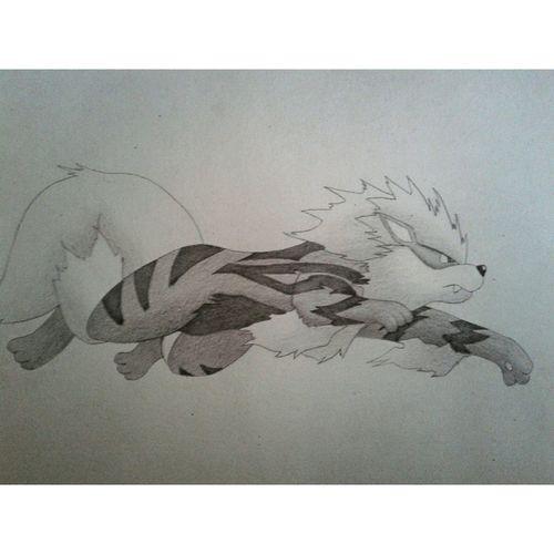 Pokémon Arcanine Art Drawing