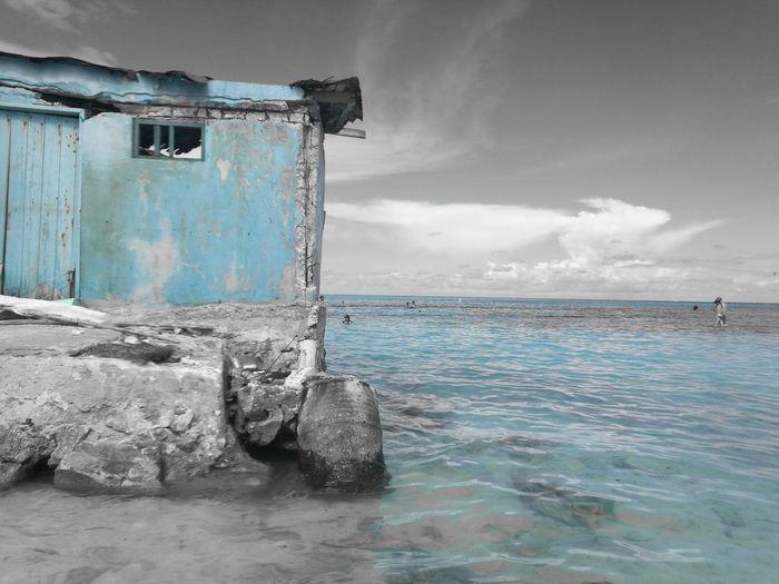 Huawei P9 Leica Huaweiphotography Farbakzente Blue Sea Beach Water Sky Ocean Isla Island Islandlife Mar Caribbean Caribbean Sea Tropical Climate
