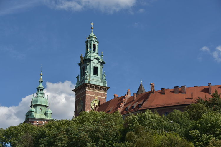 Clock Tower Of Wawel Cathedral Against Sky