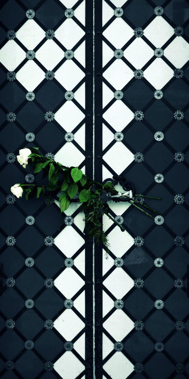 Two Roses Tied To Door