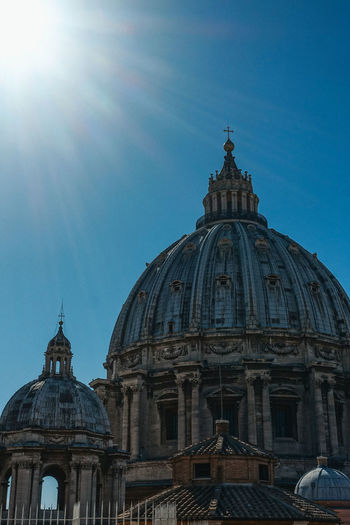 Rome Vatican Architecture Belief Building Building Exterior Built Structure Clear Sky Cupola Day Dome Italy Low Angle View Nature No People Place Of Worship Religion Romantic Sky Sky Spire  Spirituality Sunlight Travel Travel Destinations