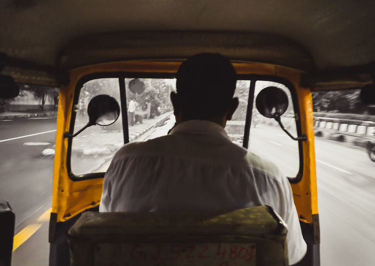 Basics of life Travel Transportation Rear View Mode Of Transport Taxi Road Driving Google Pixel Teampixel People Colour Fade India Day To Day Life Life Simple Rickshaw Little Things Ride Autorickshaw Paint The Town Yellow Be. Ready.