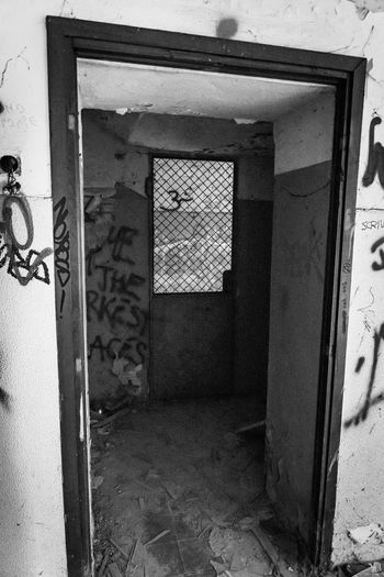 Door Entrance Architecture Built Structure Building Open Day No People Building Exterior Abandoned House Outdoors Closed Doorway Old Wall - Building Feature Protection Wall Graffiti Mental Hospital