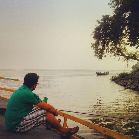 Solitude Solitary Bhramaputra River Assam What I Value Edge Of The World