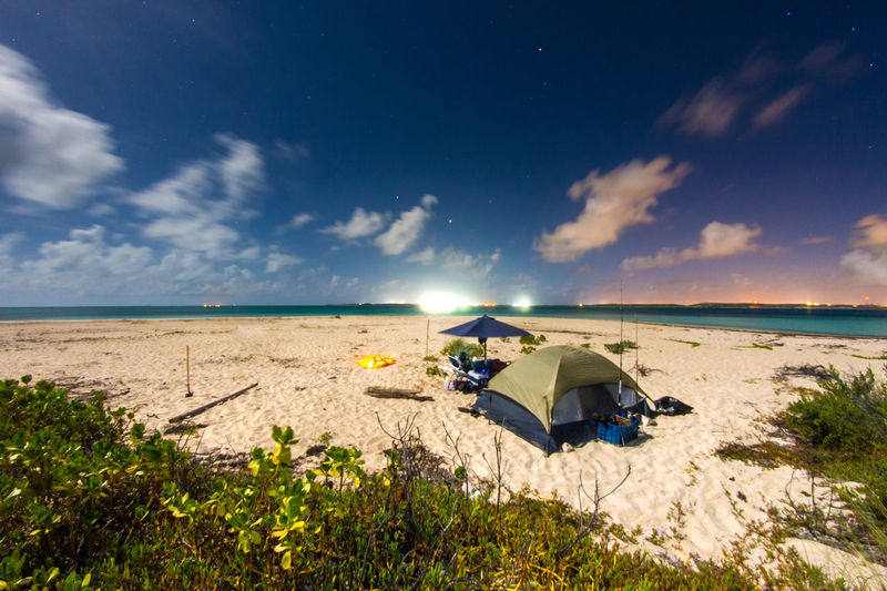 ⛺Lets go camping🏕️~ Beach Sea Sand Sky Cloud - Sky Water Relaxation Vacations Nature Summer Outdoors Beauty In Nature Godscreation Turksandcaicos Grandturk Tropical Climate Adventure Slowshutter Travel Destinations Paradise