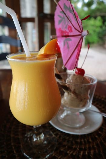 Mango Philippines Trip Break Close-up Day Dessert Drink Drinking Glass Drinking Straw Focus On Foreground Food Food And Drink Freshness Frozen Food Fruit Healthy Eating Ice Cream Mangoshake No People Refreshment Resort Siquijor Sweet Food Travel Destinations