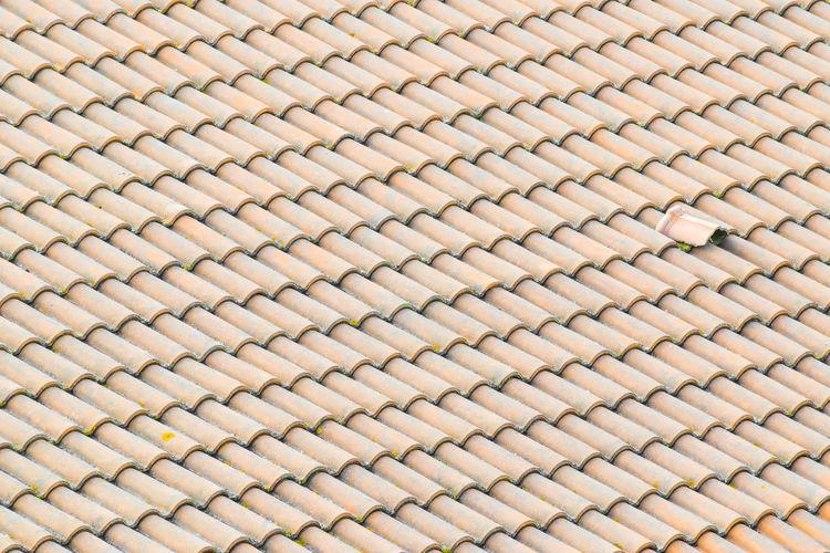 Full frame shot of paving stone roof