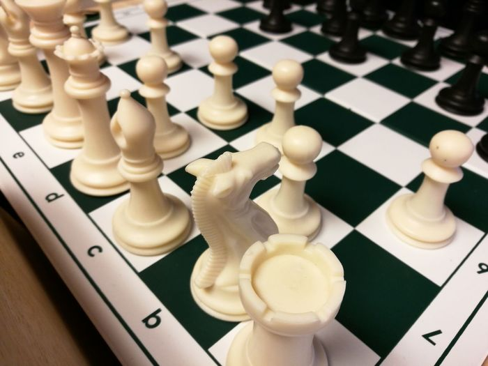 Close-up of chess board