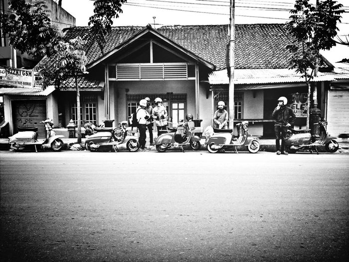 Hanging Out Blackandwhite Lambretta This Is Indonesia