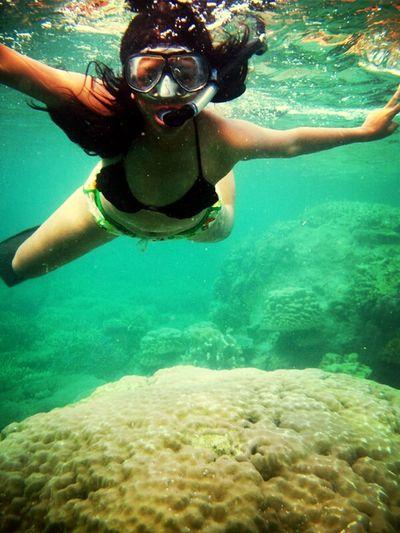 Girl Underwater Park Sea Karimunjawa