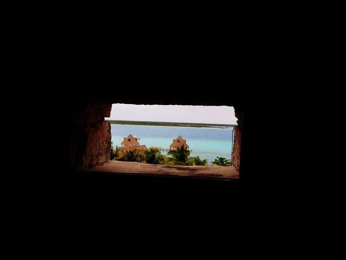 Venta Fuerte de Bacalar Mexico #Bacalar Window Dark No People Indoors  Tree Day Sky
