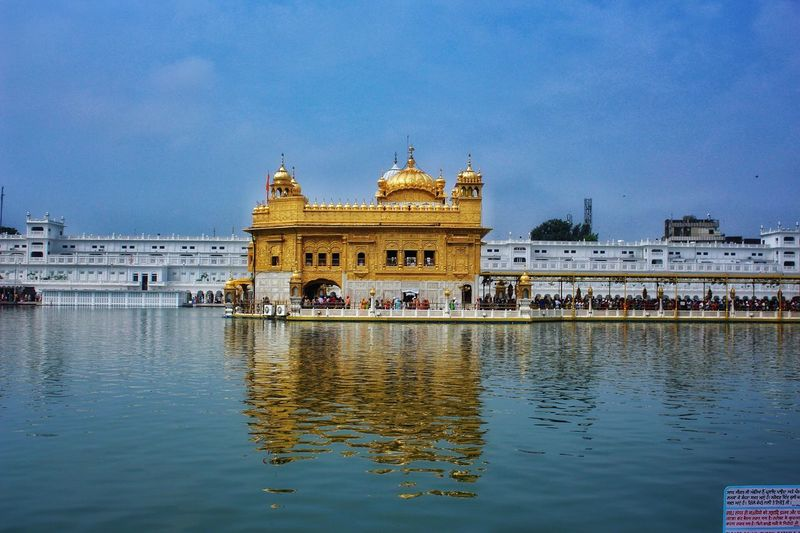 Golden Temple Waheguruji Worship Places Water Sky First Eyeem Photo