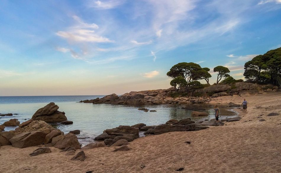 Secluded Bunker Bay Western Australia Twilight Dusk Bunker Bay Indian Ocean Trees Seascape Ocean View Ocean Water Travel Beach Tourism Secluded Beach Tranquil Scene Peaceful Place Ocean Meditation People Walking The Beach Australia Peaceful View Coast Line  Sea The KIOMI Collection Colorful Sky