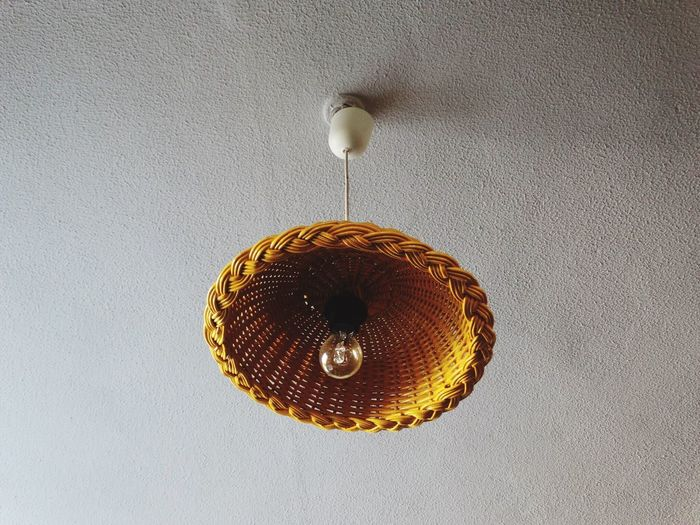Lampshade. Hanging Ceiling Indoors  No People Close-up Day Light Wicker Lamp Lamps Lightshade Lampshade Lampshades Lookingup Low Angle View Wicker Work Lights Lighting Equipment Lighting Decor Decoration Interior Design Interior
