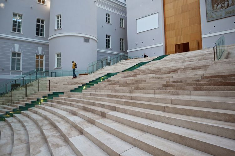 Architecture Built Structure Building Exterior Staircase Steps And Staircases Building Day Lifestyles Railing One Person Window Real People City Outdoors Men Residential District Walking Nature Incidental People