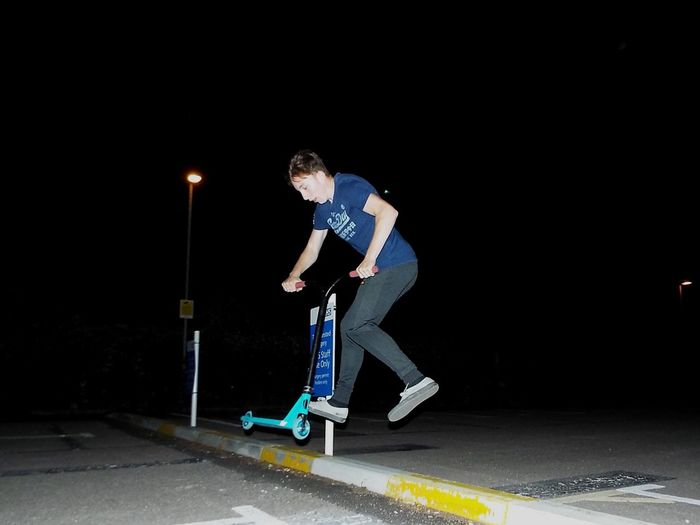 Full Length One Person Skateboard Lifestyles Young Adult Sport Leisure Activity Night Standing Real People Skill  Outdoors Sports Clothing Young Women People One Young Woman Only Adult Skateboard Park Parking Garage Adults Only The Week On EyeEm