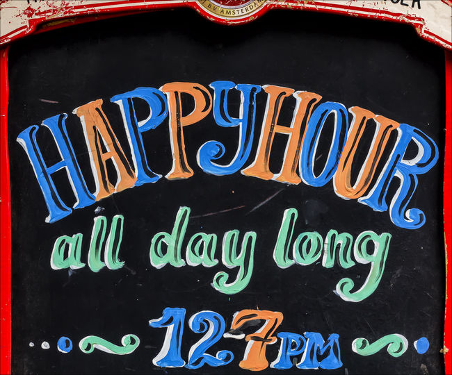 Happy hour sign Alcohol Related Bar Advertisement Happy Hour Sign Sign
